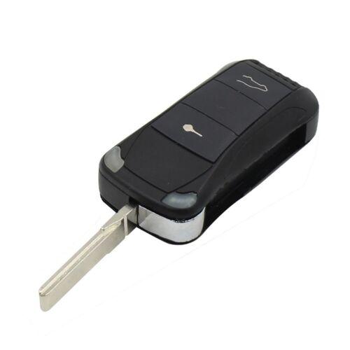 für PORSCHE mit  2 Tasten Klappschlüssel Schlüssel Rohling HU66 Gehäuse PKS08