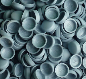 TWO PIECE DOME SCREW CAP COVERS SNAP CAPS PRO-DEC 50 x LARGE SHADOWART BLUE