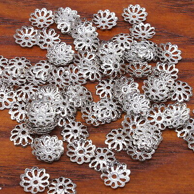 1200x New Cute Rhodium Plated Spacer Beads DIY 160407