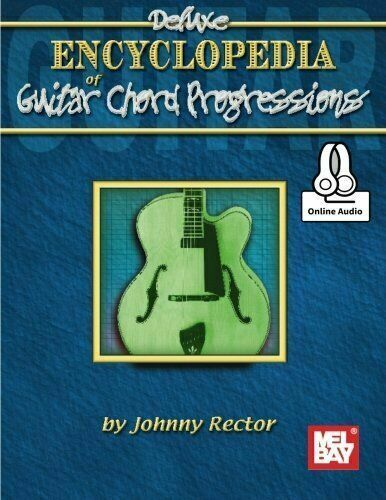 DELUXE ENCYCLOPEDIA OF GUITAR CHORD PROGRESSIONS MUSIC BOOK//CD BRAND NEW ON SALE