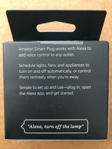 Amazon Smart Plug White Works with Alexa voice control brand new free shipping