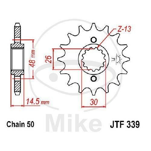 SPROCKET 17 Teeth Chain Size 530 jtf339.17