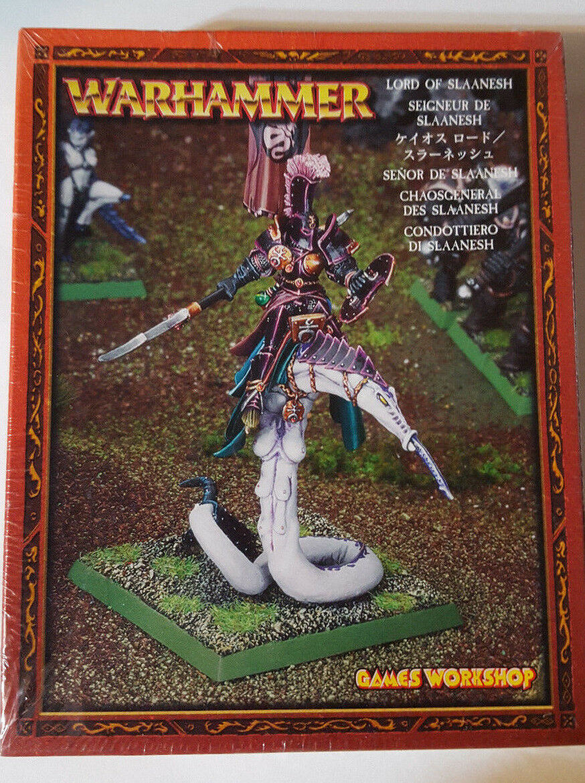 toma Juegos taller Warhammer Warhammer Warhammer caos señor de Slaanesh 83-21 2002-Caja Sellada De Metal  diseño simple y generoso