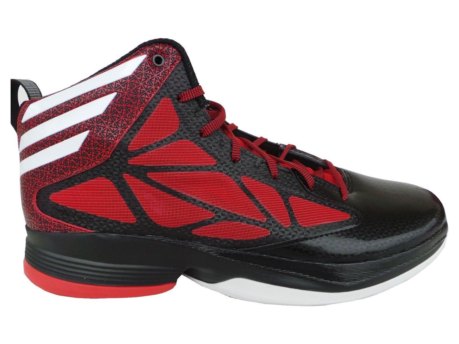 Adidas Loco Rápido Baloncesto Zapatos botas Negro Rojo Talla 50 55 2 3 14 19