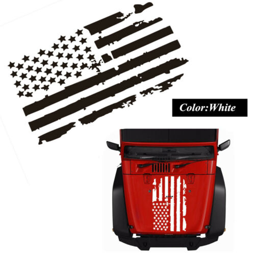 Universal Car Truck Hood Window USA Flag Pattern Sticker Decal Stylish Decor