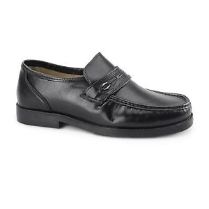 Tycoons BARRIE Mens Leather Extra Wide
