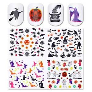 24-Sheets-Halloween-3D-Nail-Art-Stickers-Decals-Pumpkin-Cat-Ghost-Multi-Styles
