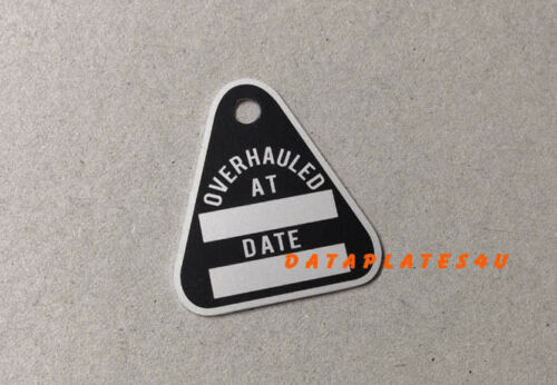 OVERHAUL DATA PLATE TAG JEEP WILLYS M38 M38A1 M151 M714 M715 M725 CJ6 DATAPLATE