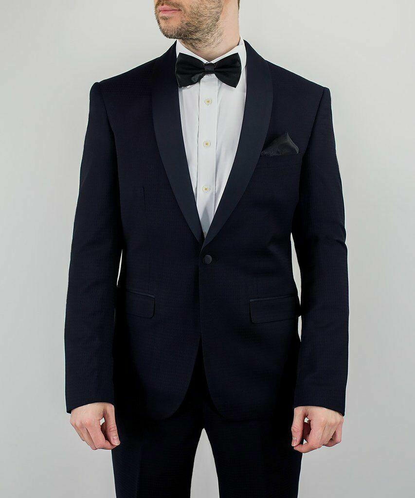 Flamingo Boys Prom Wedding Textured Tuxedo Suit