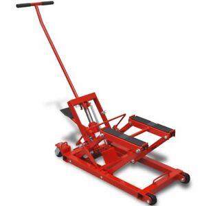 Cric-Hydraulique-pour-Moto-VTT-Petits-Vehicules-Tracteurs-680kg-Rouge