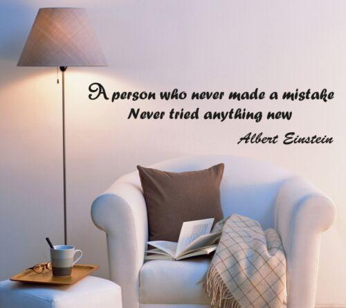 Wall Decal Science Help of Succeed Motivation Einstein Vinyl Sticker ed994