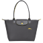 S Små Gun Pliage Longchamp Metal Auth Le Collection Club Hestbroderi Tote qvEO8wY