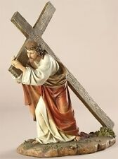 """Christ Carrying His Cross 11"""" Tall  Religious Christian Statue Lord Jesus Easter"""