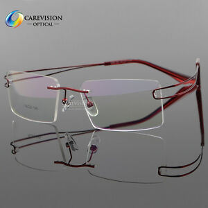 Bendable Metal Eyeglass Frames : Memory Metal Rimless Women Men Myopia Flexible Eyeglasses ...