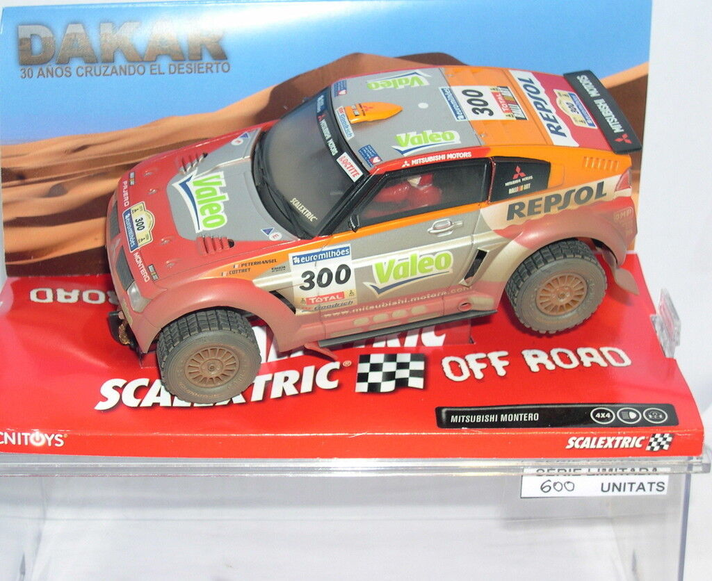 Qq SCALEXTRIC MITSUBISHI MONTERO COLLECTION DAKAR1 MAS SLOT LTED ED