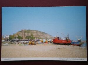 POSTCARD-SUSSEX-LOTS-OF-BOATS-ON-HASTING-BEACH