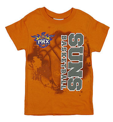 NBA Basketball Kids / Youth Phoenix Suns Extreme Logo Shirt Top - Orange