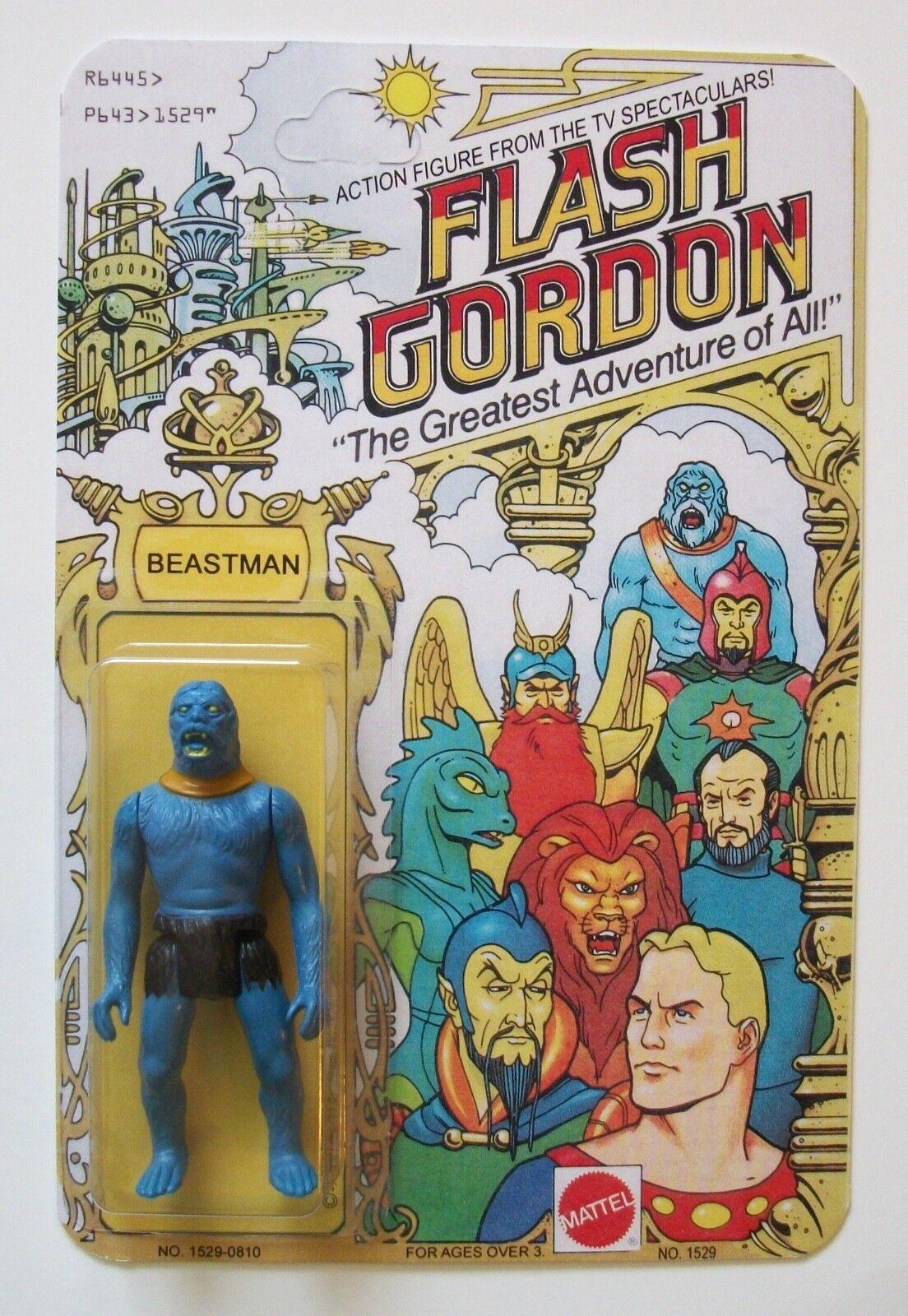 Restoration Vintage Flash Gordon 1979 Beastman 3 3 4 Action Figure MOC