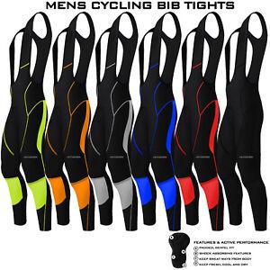 Hommes-cyclisme-Cuissard-Collant-Long-Compression-Pantalon-Rembourre-Mtb-Velo-De-Route-Lycra-Neuf