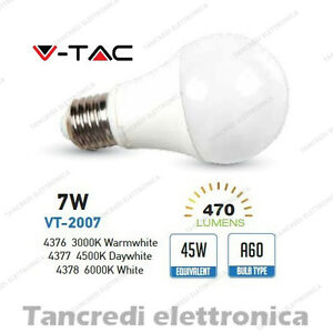 Lampadina-led-V-TAC-7W-45W-E27-VT-2007-A60-SMD-globo-bulbo-sfera-lampadine