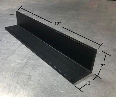 "plastic flat bar stock 1//4/"" x 1 1//2/"" x 1 1//2/"" x 12/""  UHMW PE VIRGIN ANGLE"