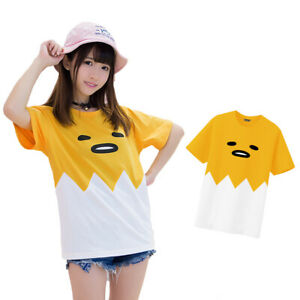 Anime-Gudetama-Shirt-Cute-Girls-Short-Sleeve-Cotton-O-neck-T-shirt-Cosplay-Tee
