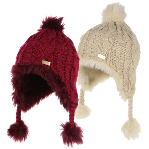 Regatta Kids/' Cassiana Fur Lined Chullo Hat Purple