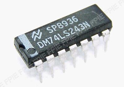 74LS243 INTEGRATED CIRCUIT SN74LS243N DIP-14 LOT OF 2