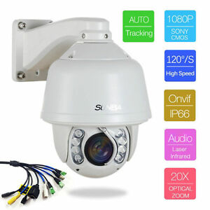 SUNBA-SONY-20X-ZOOM-HD-1080P-2-0MP-Outdoor-PTZ-IP-SpeedCamera-Auto-Tracking