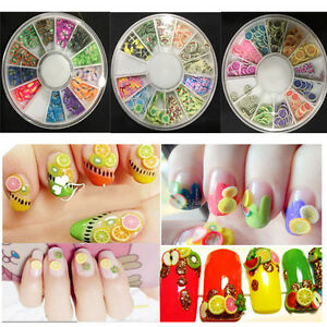 Image Is Loading Nail Art Lovely Fruit Fimo Slices Polymer