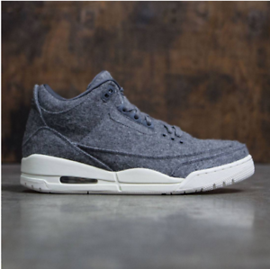 huge selection of 1d010 66df2 Nike Air Jordan Jordan Jordan 3 III Retro Grey Wool Size 13. 854263-004