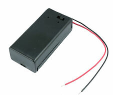 9V PP3 Enclosed Battery Holder Box ON/OFF Switch with Wires