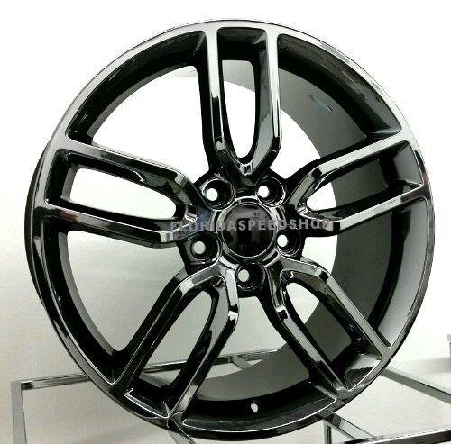 "New C7 Z51 Black Chrome Corvette Stingray Wheels 17/18"" Combo 1997-2004 C5"