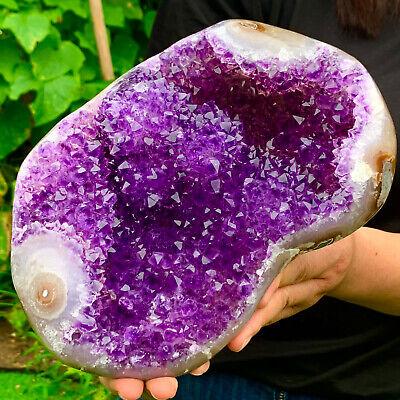 6.75LB Natural Amethyst geode quartz cluster crystal specimen Healing  DG73  | eBay