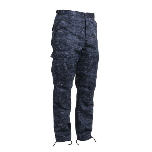 Military Cargo BDU Pants Midnight Digital Camo Rothco 99660