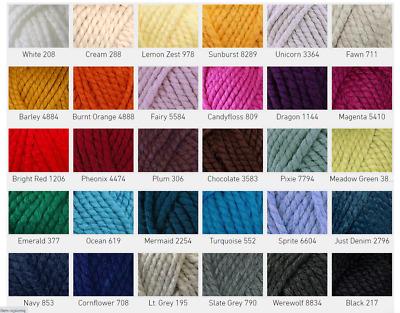 100g CYGNET SERIOUSLY CHUNKY Knitting Wool Yarn Super Chunky Finger Knitting