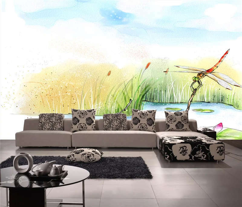 Beautiful Reed Dragonfly Full Wall Mural Photo Wallpaper Print 3D Decor Kid Home