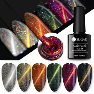 7-5ml-Magnet-Holographische-Soak-Off-UV-Gellack-Nail-Art-Tipps-Varnish-UR-SUGAR