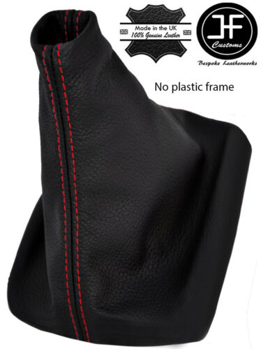 Red Stitch pour VW PASSAT B5 FL 2001-2005 Gear Stick guêtres en cuir noir