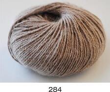 100% Luxurious Baby Alpaca Wool/Yarn Light Brown 284 DK 50g knitting crochet