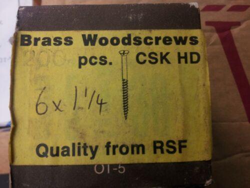 Reisser 6 x 1 1//4 OTTONE woodscrew CSK