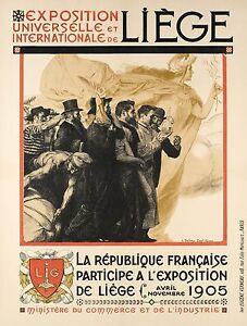 Affiche-Originale-Henri-Bellery-Desfontaines-Expo-Universelle-Liege-1905