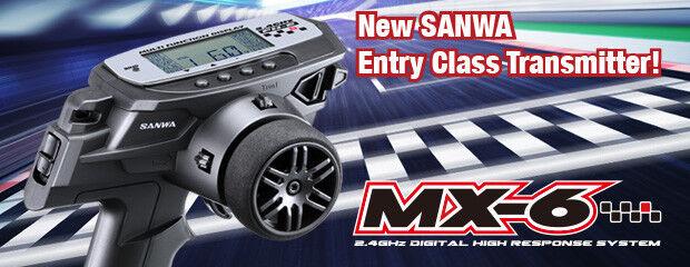 Sanwa mx-6 2.4ghz sender fh-e 2.4ghz