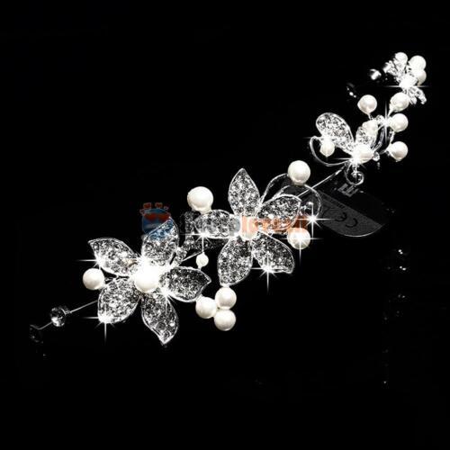 Pearl Flower Crystal Rhinestone Wedding Bridal Headband Clip Hair Band Tiara New