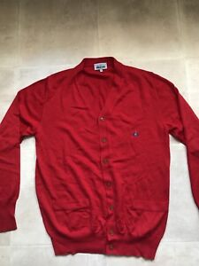 Vivienne-Westwood-MAN-red-cardigan-mens-size-Large