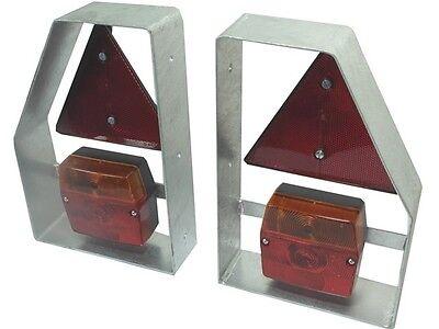 Lampenträger inkl. Rücklicht und Dreieckrückstrahler - seitlich - Anhänger