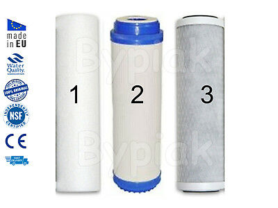 "3x Brand New Water Filter Purifier Softener Cartridge Replacement 10/"" Salt Free"