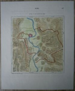 1875-Perron-map-SEVEN-HILLS-OF-ROME-ITALY-88
