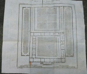 1790-GRECIA-BELLISSIMA-PIANTA-DI-UNA-PALESTRA-GRECA-SECONDO-VITRUVIO