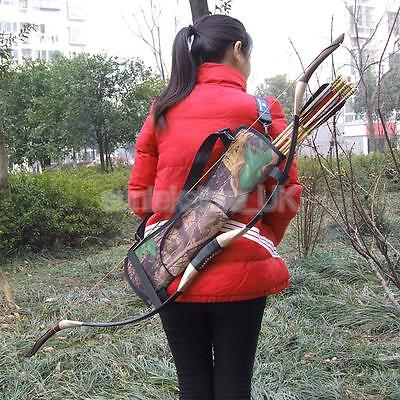 Back Shoulder Camo Outdoor Archery Bow Arrow Case Holder Belt Quiver Strap